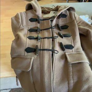 Burberry Jackets & Coats - Burberry London RARE heavy peacoat with fur trim